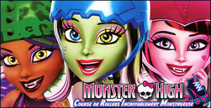 Jaquette de Monster High : Course de Rollers Incroyablement Monstrueuse sur Wii