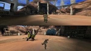 Monster Hunter 3 en écran partagé