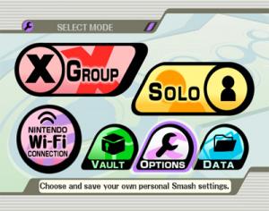 Images : un menu Super Smash Bros Brawl