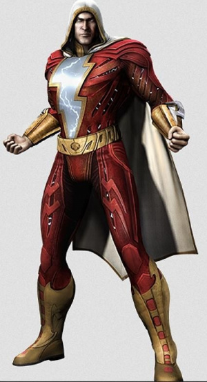 Doomsday et Captain Marvel dans Injustice