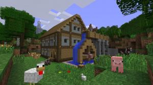 Minecraft : 4 joueurs en écran partagé sur 360
