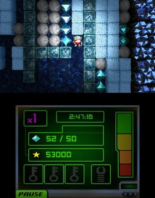 Test Boulder Dash-XL 3D Nintendo 3DS - Screenshot 1