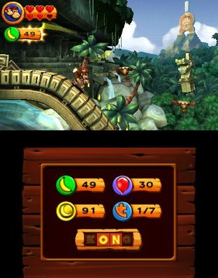 Test Donkey Kong Country Returns 3D Nintendo 3DS - Screenshot 17