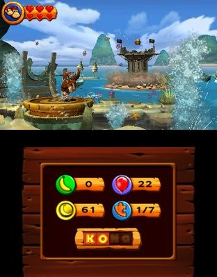 Test Donkey Kong Country Returns 3D Nintendo 3DS - Screenshot 19