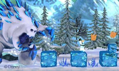 le joueur incarne donc olaf un bonhomme de neige capable de se montrer agile et surtout susceptible de se de dfendre une prise en main trs simple