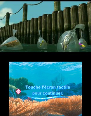 Test Le Monde de Némo : Course vers l'Océan Nintendo 3DS - Screenshot 2