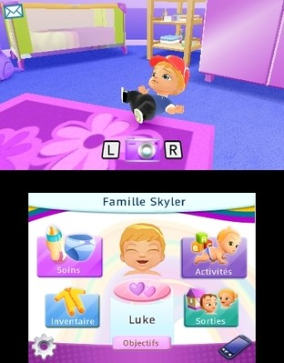 Test Léa Passion Bébés 3D Nintendo 3DS - Screenshot 3