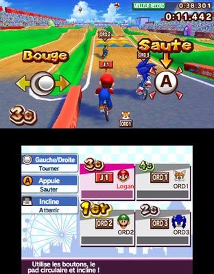 Test Mario & Sonic aux Jeux Olympiques de Londres 2012 Nintendo 3DS - Screenshot 219