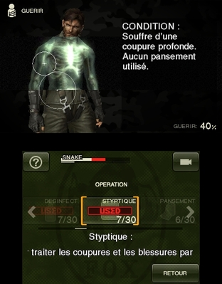 Test Metal Gear Solid : Snake Eater 3D Nintendo 3DS - Screenshot 48