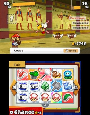 Test Paper Mario : Sticker Star Nintendo 3DS - Screenshot 85