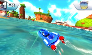 Test Sonic & All Stars Racing Transformed Nintendo 3DS - Screenshot 1