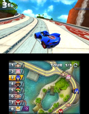 Test Sonic & All Stars Racing Transformed Nintendo 3DS - Screenshot 4