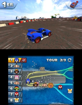 Test Sonic & All Stars Racing Transformed Nintendo 3DS - Screenshot 5