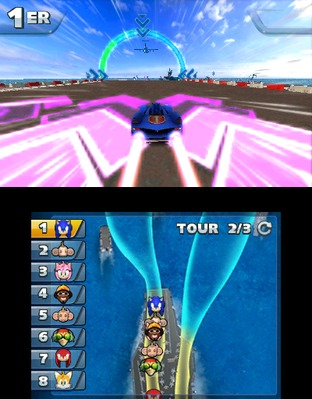Test Sonic & All Stars Racing Transformed Nintendo 3DS - Screenshot 6