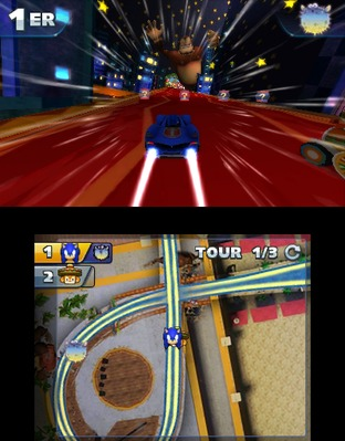 Test Sonic & All Stars Racing Transformed Nintendo 3DS - Screenshot 7