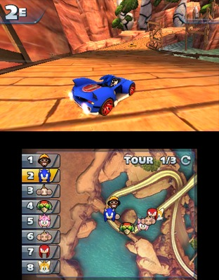 Test Sonic & All Stars Racing Transformed Nintendo 3DS - Screenshot 9