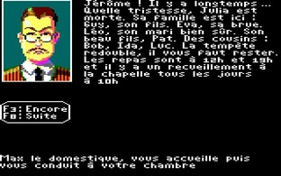 Test Le Manoir de Mortevielle Amstrad CPC - Screenshot 4
