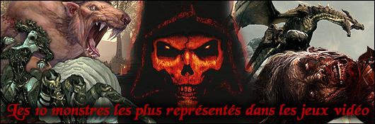 Les 10 monstres les plus représentés dans les jeux vidéo