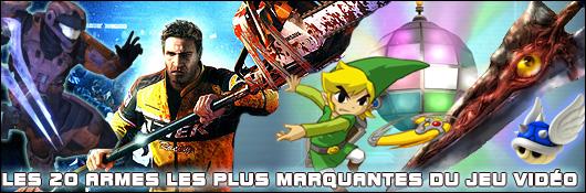Les 20 armes les plus marquantes du jeu vidéo