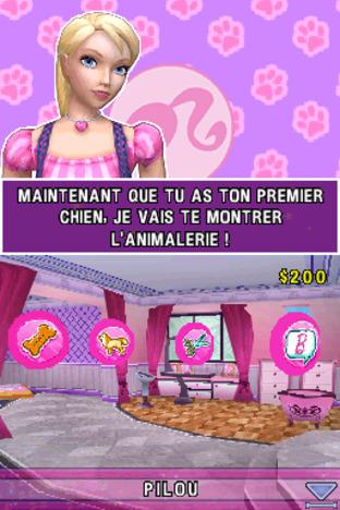 Test Barbie et le Salon de Beauté des Chiens Nintendo DS - Screenshot