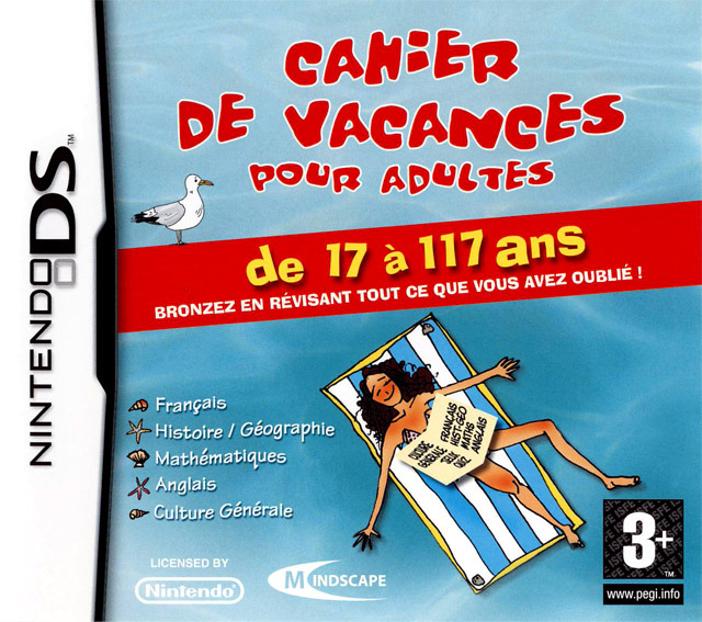 cahier de vacances pour adultes sur nintendo ds. Black Bedroom Furniture Sets. Home Design Ideas