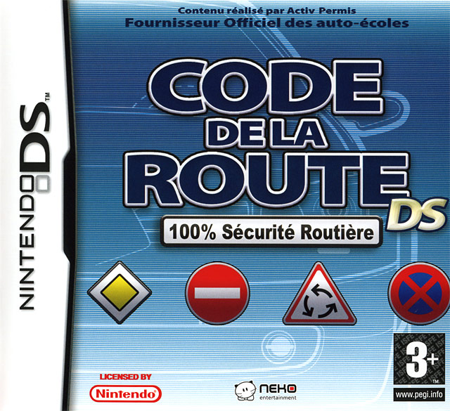 code de la route ds sur nintendo ds. Black Bedroom Furniture Sets. Home Design Ideas