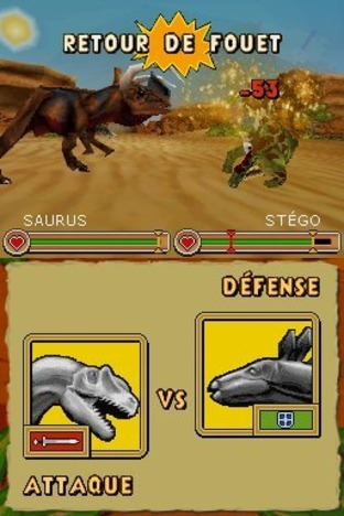 Test Combat de Géants : Dinosaures Nintendo DS - Screenshot 17
