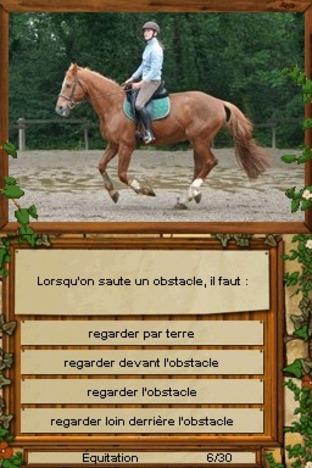 Test Equitation : Galops 1 à 4 Nintendo DS - Screenshot 1