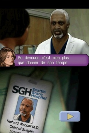 Test Grey's Anatomy Nintendo DS - Screenshot 1