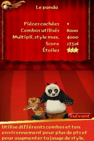 Test Kung Fu Panda : Guerriers Légendaires Nintendo DS - Screenshot 9