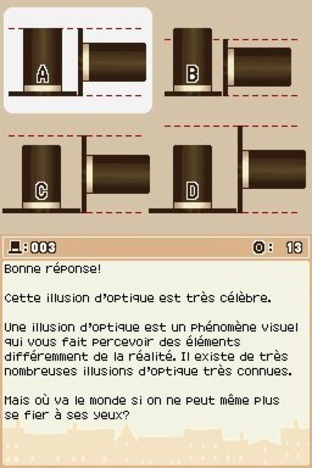Professeur Layton et l'Etrange Village DS - Screenshot 203