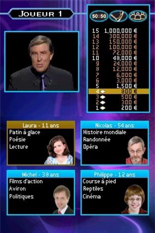 Test Qui Veut Gagner des Millions Nintendo DS - Screenshot 2