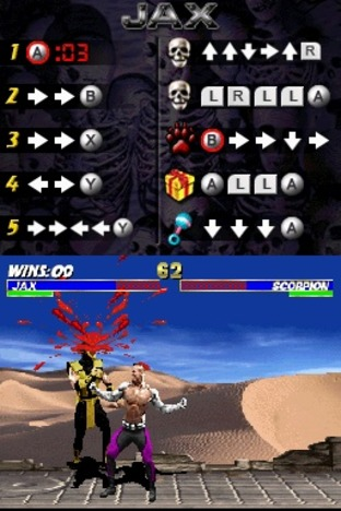 Test Ultimate Mortal Kombat Nintendo DS - Screenshot 15