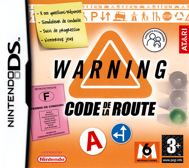 warning code de la route sur nintendo ds. Black Bedroom Furniture Sets. Home Design Ideas