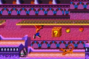 Test Crash Bandicoot 2 : N-Tranced Gameboy Advance - Screenshot 11