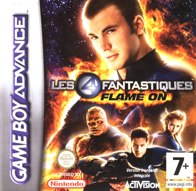 les 4 fantastiques flame on sur gameboy advance. Black Bedroom Furniture Sets. Home Design Ideas
