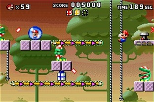 Test Mario Vs Donkey Kong Gameboy Advance - Screenshot