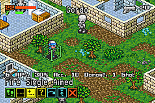 Test Rebelstar Tactical Command Gameboy Advance - Screenshot 3