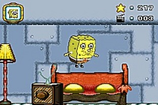 Test Bob L'Eponge : Silence On Tourne ! Gameboy Advance - Screenshot 1