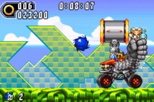 Test Sonic Advance 2 Gameboy Advance