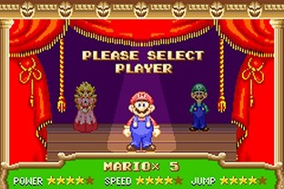Test Super Mario Advance Gameboy Advance - Screenshot 3