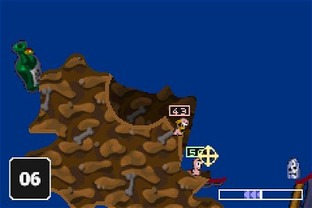 Test Worms World Party Gameboy Advance - Screenshot 10