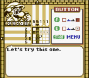 Test Mario's Picross Gameboy - Screenshot 2