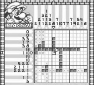 Test Mario's Picross Gameboy - Screenshot 3