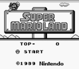 Test Super Mario Land Gameboy - Screenshot 1
