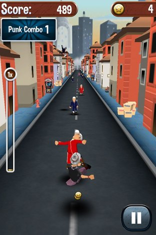 Test Angry Gran Run iPhone/iPod - Screenshot 8