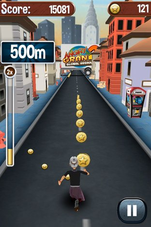 Test Angry Gran Run iPhone/iPod - Screenshot 12
