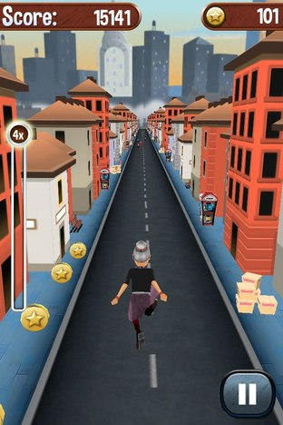 Test Angry Gran Run iPhone/iPod - Screenshot 13