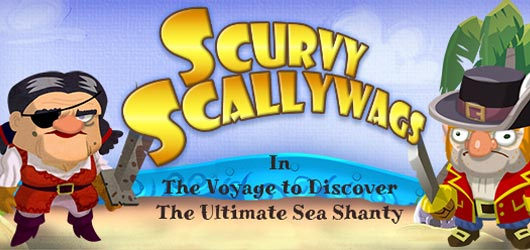 Scurvy Scallywags in The Voyage to Discover the Ultimate Sea Shanty : A Musical Match-3 Pirate RPG