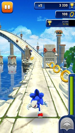 Test Sonic Dash iPhone/iPod - Screenshot 5